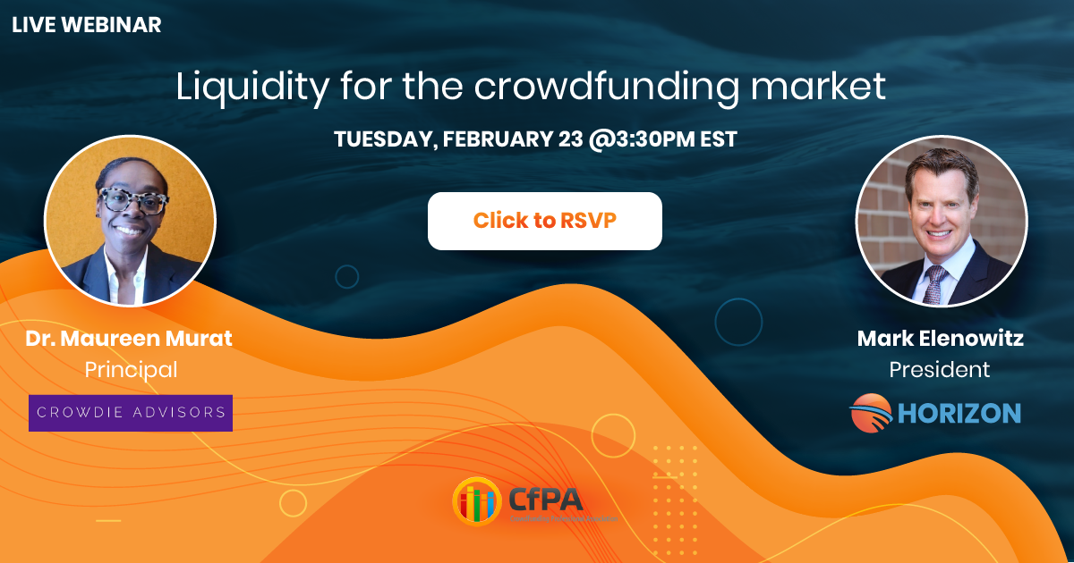 liquidity for the crowdfunding market