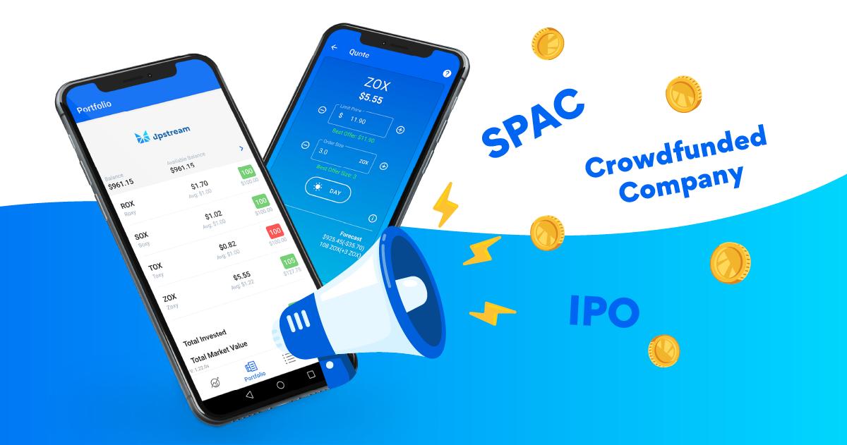 Upstream digital exchange and trading app